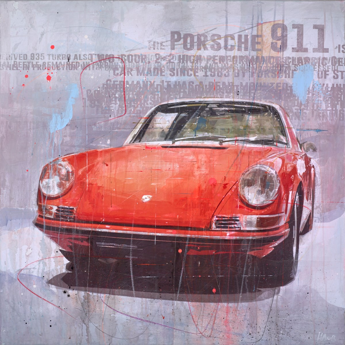 The Porsche 911 by markus haub -  sized 39x39 inches. Available from Whitewall Galleries